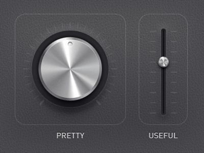 Dribbble - pretty vs useful by Anton Kudin