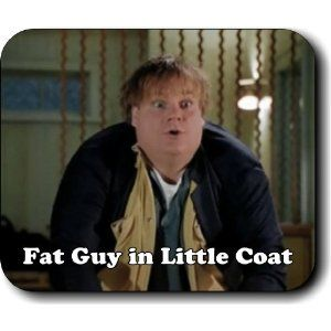 Come on, fat guy in a little coat ... fat guy in a litttlllllle coooaaat  - this always makes me think of @Nicole Pecho getting her catchers gear on  : )