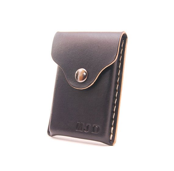 Personalized Handmade Leather Business Card Holder Card By EchoSix  Resume Holder