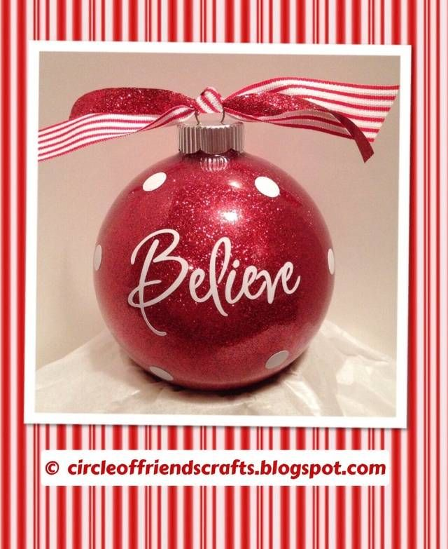Red Glitter Ornaments