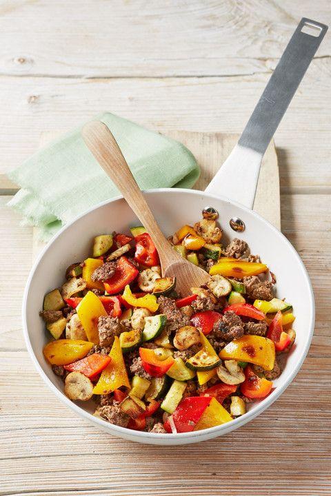 Hackfleisch - Gemüse - Pfanne, ein tolles Rezept aus der Kategorie Gemüse. Bewertungen: 98. Durchschnitt: Ø 4,5.