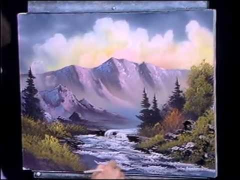 Bob Ross Bubbling Mountain Brook - Bob Ross Clips