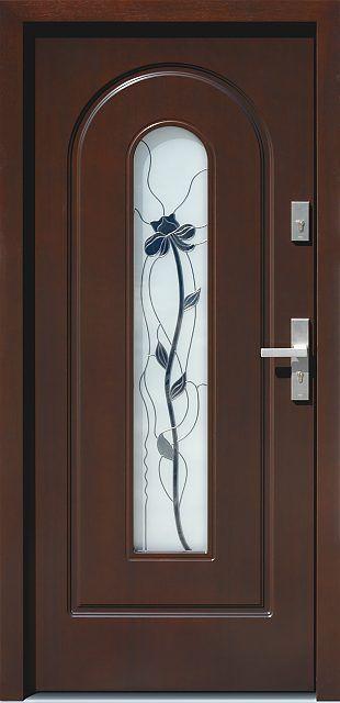 Drewniane wejściowe drzwi zewnętrzne do domu z katalogu modeli klasycznych wzór 571s2+ds53