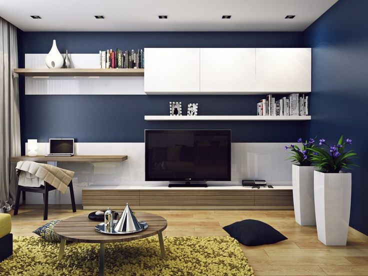 Egy fiatal pár részére készültek a modern lakás berendezéséhez, dekorációjához a tervek, kék, sárga, zöld, fehér színpalettával, természetes, világos fa felületekkel, fa padlóval. A lakás kétszobás, kényelmes, tágas, étkezős konyhával, külön hálószobával és besétálós kis gardróbszobával.