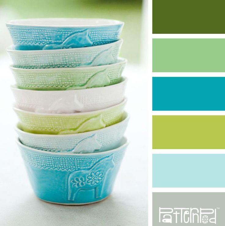 schemes paint palettes green colors blue green blue and color paints