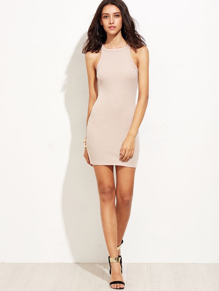 Shop Pink Sleeveless Bodycon Dress online. SheIn offers Pink Sleeveless Bodycon Dress & more to fit your fashionable needs.