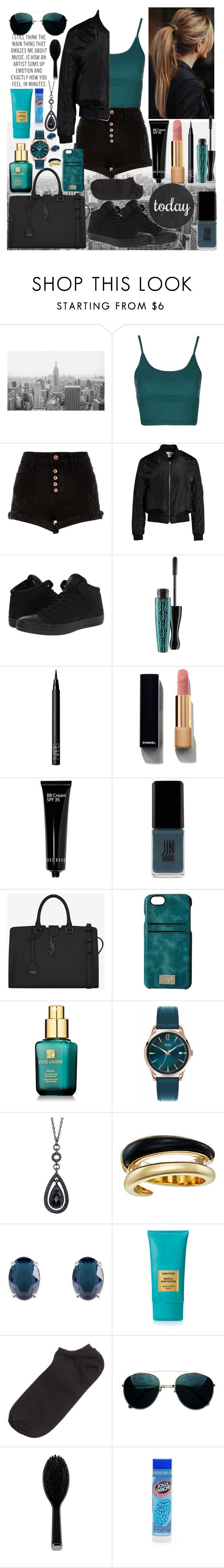 """""""Last summer Outfit                ~Teals~"""" by inspiredfashionn ❤ liked on Polyvore featuring Topshop, River Island, Sans Souci, Converse, MAC Cosmetics, NARS Cosmetics, Chanel, Bobbi Brown Cosmetics, JINsoon and Yves Saint Laurent"""