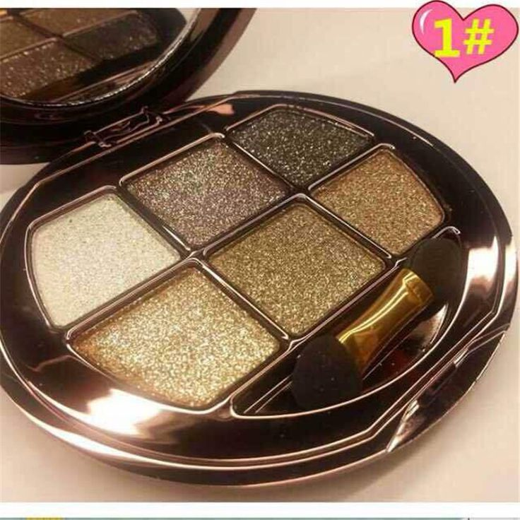 Nova chegada 1 conjunto 6-color 3D diamante brilho sombra de olho paleta sombra de olho esfumaçado kit de maquiagem 6 estilos que você pode escolher