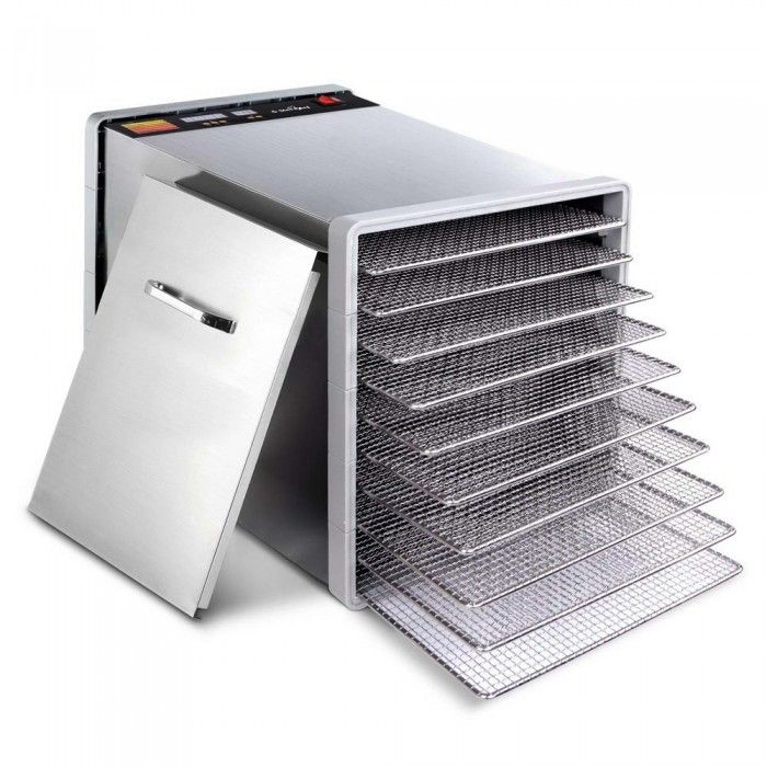 Stainless Steel Food Dehydrator – 10 Trays