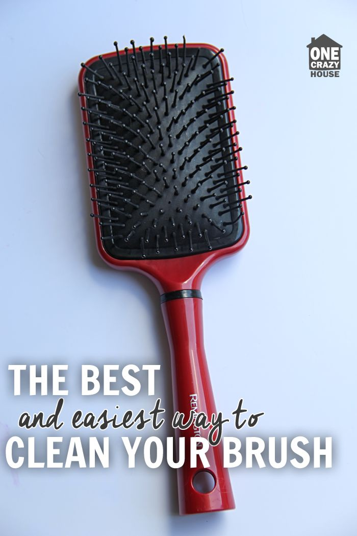 I figured out how to clean hair brushes so they looked brand new without taking a ton of scrubbing. Plus, your brush will smell amazing!