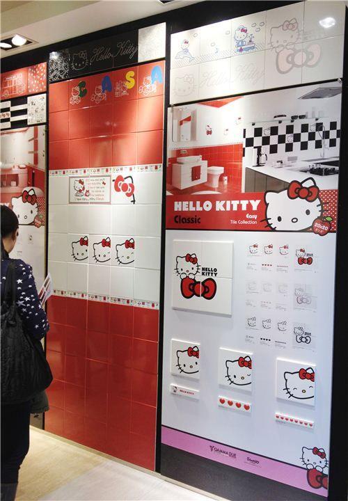 Accesorios De Baño Hello Kitty:Hello Kitty Bathroom Tiles