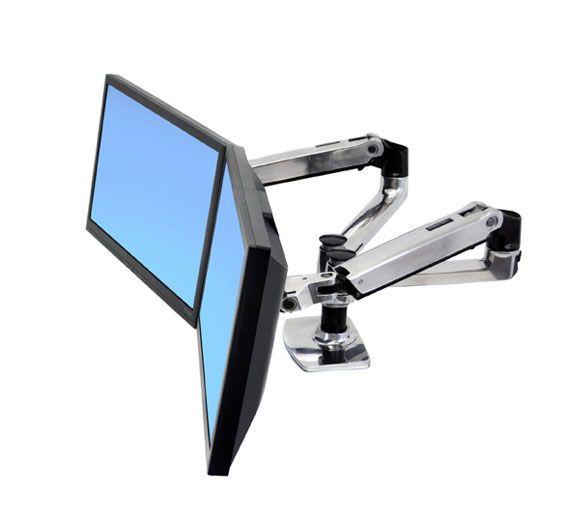 Soporte articulado para monitor de computadora PC horizontal lado a lado