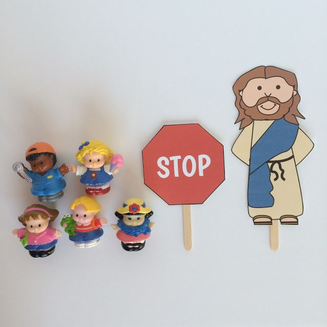 Jesus Blesses the Little Children lesson plan with interactive story visuals, crafts and more!