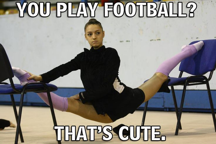 Rhythmic Gymnastics vs Football