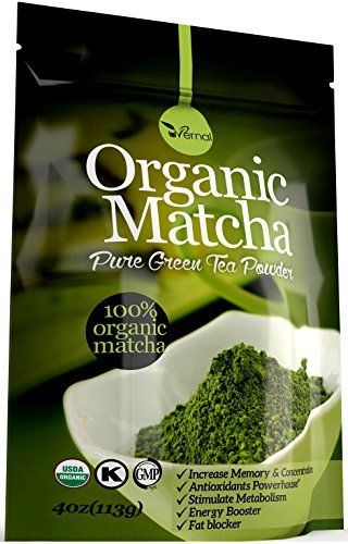 Organic Matcha Green Tea Powder Antioxidants USDA Organic Energy Booster Incredible Taste(4oz)