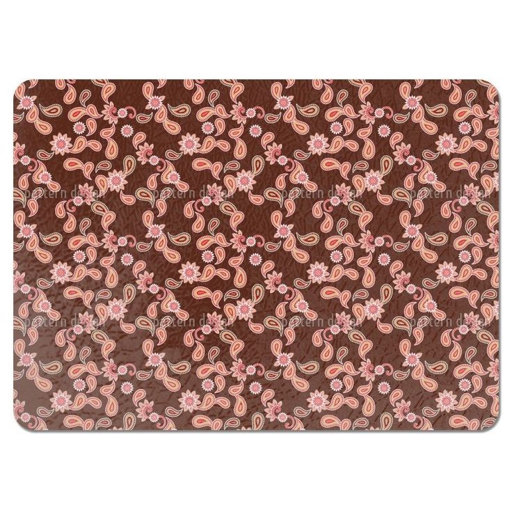 Uneekee Paisley in Brown Placemats (Set of 4) (Paisley In Brown Placemat)