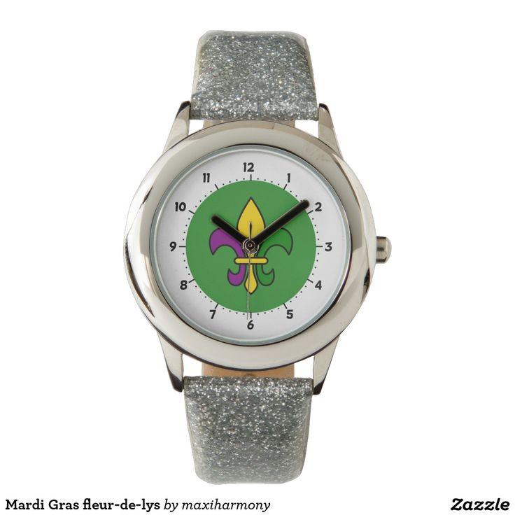 Mardi Gras fleur-de-lys Watches