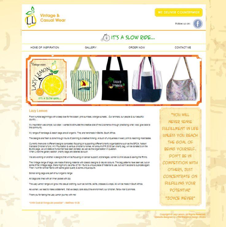 Little Blackbird Design Studio: #Website #Design for #LazyLemon - #Vintage and Cas...