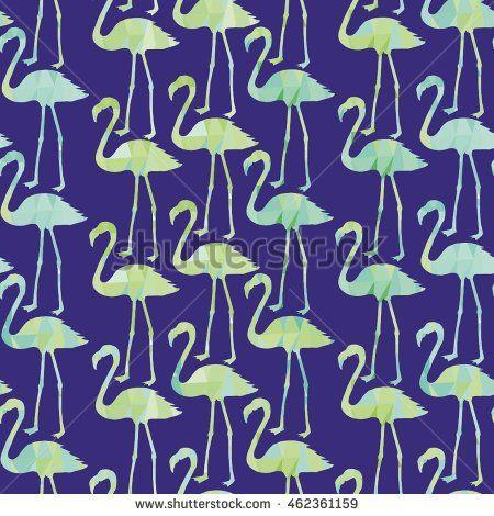 Фламинго - векторные иллюстрации