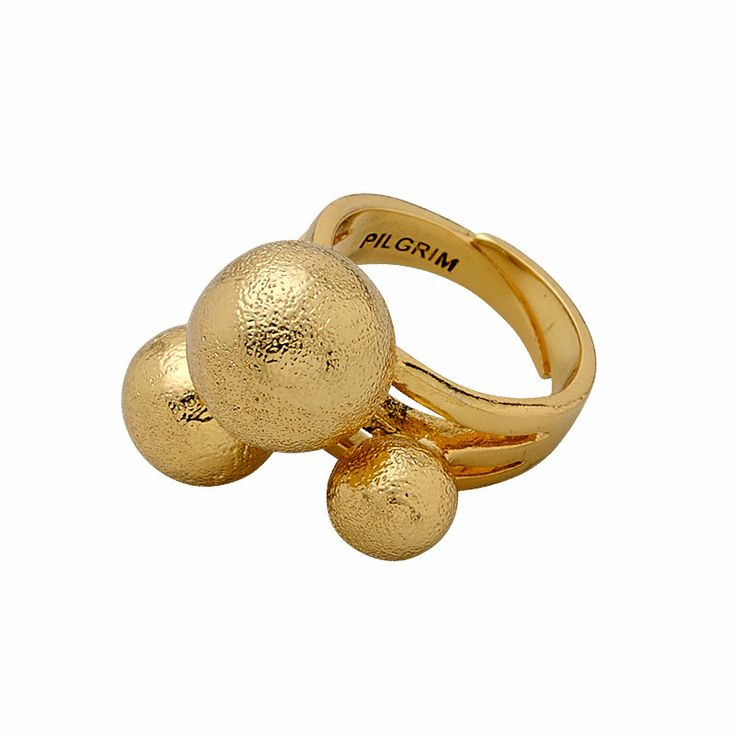 Modest Ring Adjustable, gold plated - Pilgrim - Pilgrim - RoyalDesign.com #morsdag #mothersday #gifts #perfectgifts #jewellery #royaldesign #pilgrim #ring