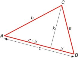 In this lesson, students use right triangle trigonometry and the Pythagorean theorem to develop the law of cosines.