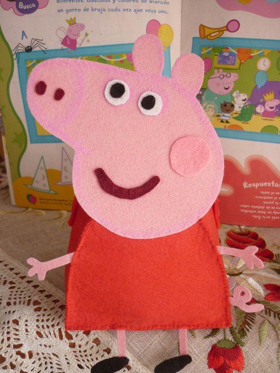 Peppa Pig handbag PDF pattern & tutorial by HadaDeFieltro on Etsy, €3.77