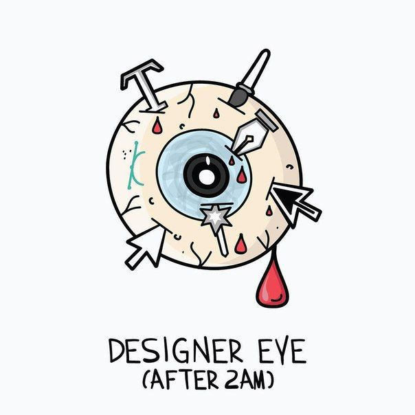 Best WEB HUMOR Images On Pinterest Kitchen Sinks Free Stuff - Funny illustrations show the love hate relationship between designers