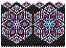Kaleidoscope (Amulet Bag) Pattern by Charley Hughes AKA BeadyBoop at Bead-Patterns.com