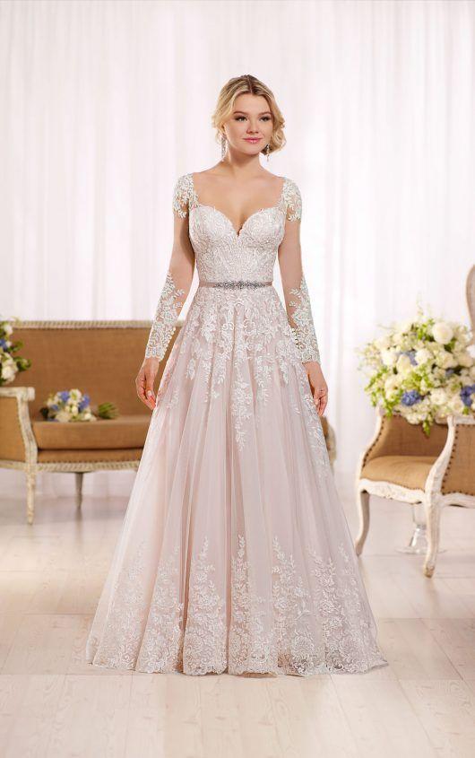 A Line Wedding Dress With Organza Skirt