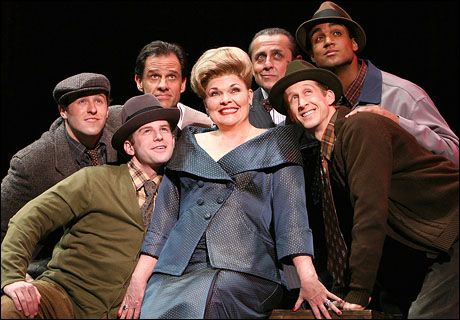 Debra Monk and her boys in Curtains the Musical by Kander and Ebb