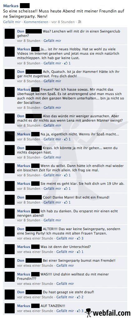 Die Swingerparty - Facebook Fail des Tages 16.03.2014   Webfail - Fail Bilder und Fail Videos