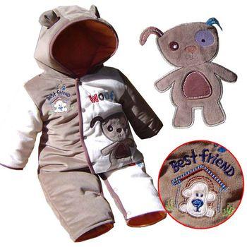 warm fluwelen winter pasgeboren jongetje rompertjes hoodies overalls voor kinderen jumpsuit bebe kleding kinderkleding, grootte 3m, 6m