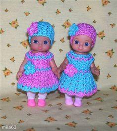 Вязаные платья для Шу Шу / Одежда для кукол / Шопик. Продать купить куклу / Бэйбики. Куклы фото. Одежда для кукол