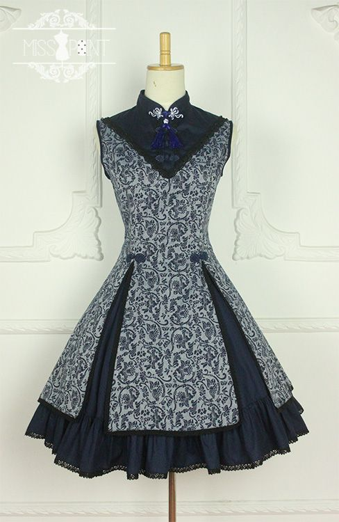 Classic Chinese Style Stand Collar Printed JSK Lolita Dresses