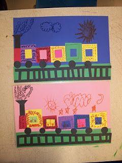 Mrs. Weber's Art Class: Kindergarten Shape trains