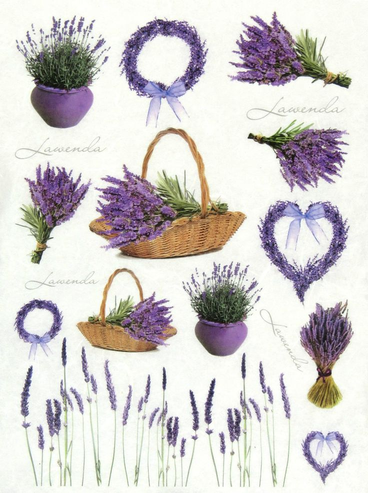 Ricepaper/ Decoupage paper, Scrapbooking Sheets /Craft Paper Lavender