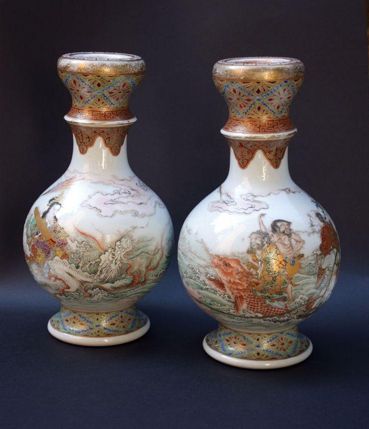 1000 Images About Japanese Meiji Ceramics On Pinterest Antiques Porcelain Vase And Miniature