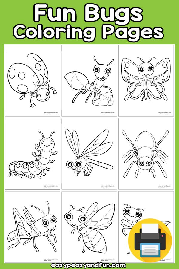 Fun Bugs Coloring Pages Bug Coloring Pages Coloring Pages Heart Art Projects