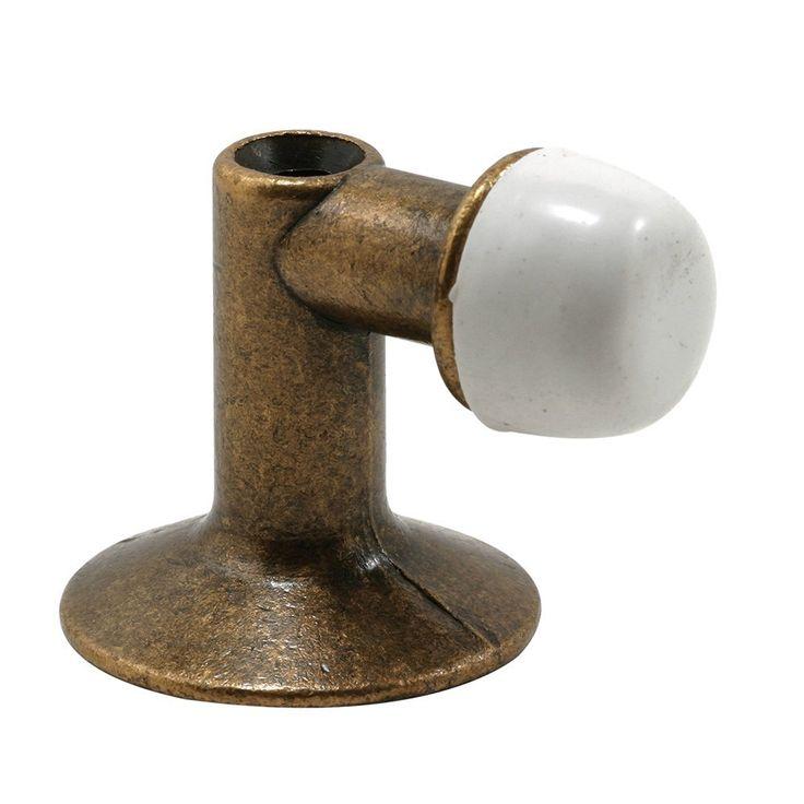 Prime Line Products U 9024 90 Degree Floor Mount Door Stop, Antique Brass