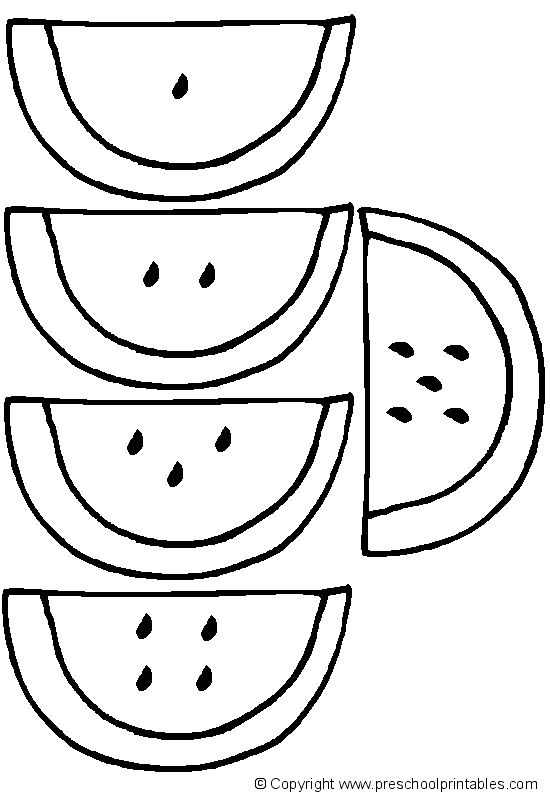 www.preschoolprintables.com / File Folder Game/ Watermelon