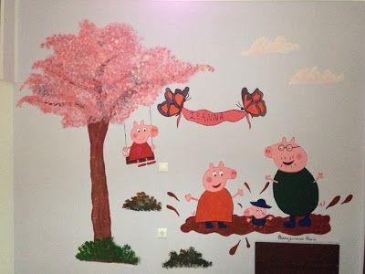 Βάλε χρώμα: Ζωγραφιά σε παιδικό δωμάτιο με θέμα την Πέπα το γο...