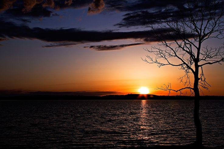 Copan Sunset - Oklahoma:  Sunset over Copan Lake in Oklahoma.