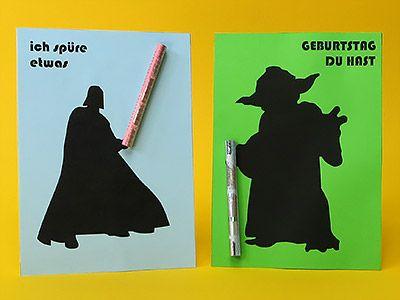 Geburtstag Geldgeschenke Karten: Star Wars