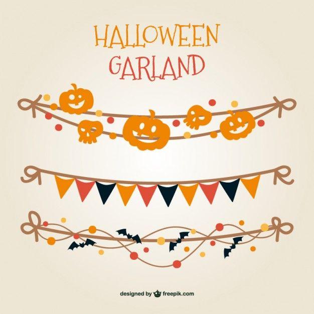 65 best halloween images on pinterest vectors halloween vector colorful halloween garland free vector stopboris Image collections