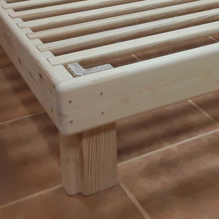 La Cama Somier madera Fustaforma sin metales