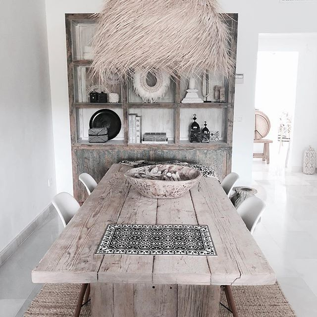 Simply Hygge Homewares On Instagram This Dining Room Had Me At Hello Just Loving The Timber And Straw F Morrocan Decor Dining Room Decor Dining Room Spaces