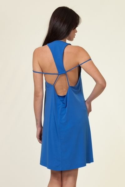Open back blue dress! #YAZZgr