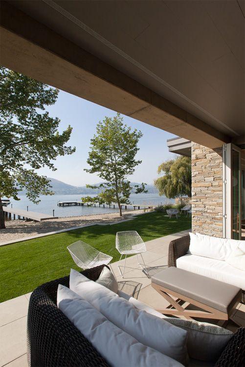 lake side covered terrace