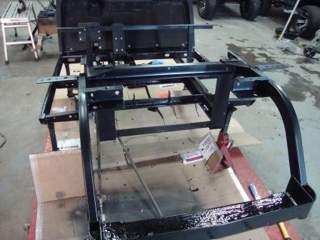 entire frame as been painted with chassis coat black from por 15 the good