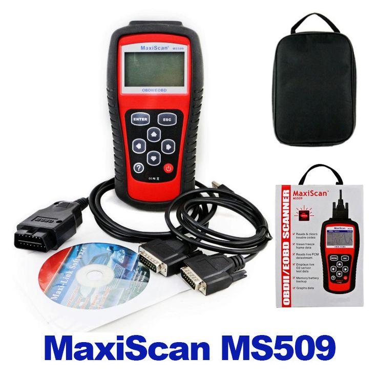 קוד רכב קורא Autel Maxiscan MS509 OBDII OBD האוטומטי OBD2 סורק MS 509 רכב כלי אבחון